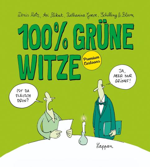 100% grüne Witze. Premium Cartoons.