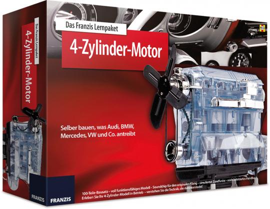4-Zylinder-Motor. Selber bauen, was Audi, BMW, Mercedes, VW & Co. antreibt. Bausatz.