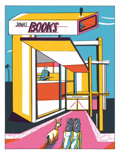Albert Camus. Jonas oder der Künstler bei der Arbeit. Graphic Novel. Vorzugsausgabe mit Original-Siebdruck »Jonas Books«.