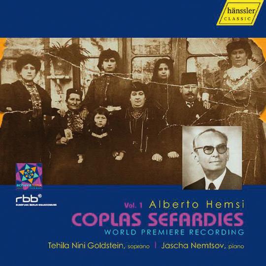Alberto Hemsi. Liederzyklus »Coplas Sefardies« Vol. 1. CD.