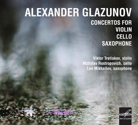 Alexander Glasunow. Konzerte für Violine, Cello und Saxophon. CD.
