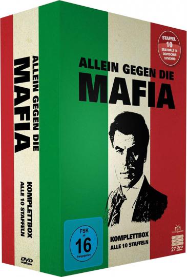 Allein gegen die Mafia (Komplettbox), 27 DVDs.