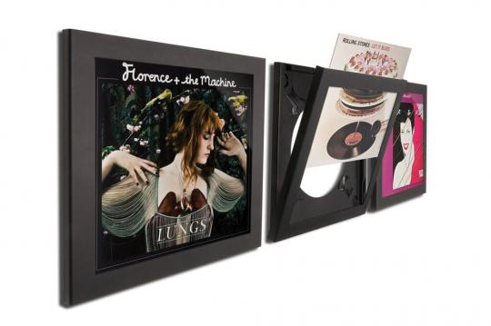 Art Vinyl. Rahmen in Schallplattengröße. Schwarz. 3er Set.