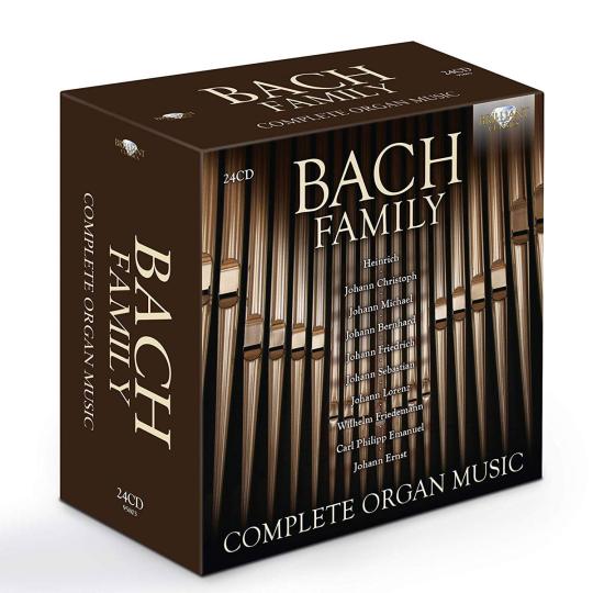 Bach Family. Die Orgelwerke der Bach-Familie. 24 CDs.