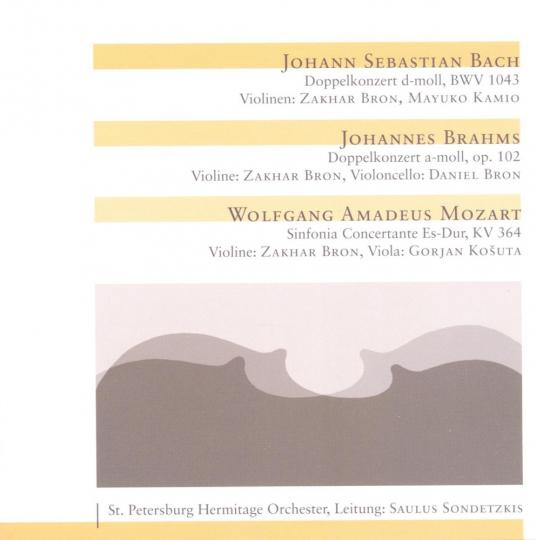 Bach, Brahms, Mozart. Violinkonzerte. CD.