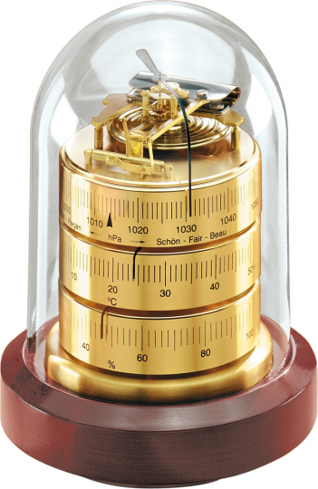Barigo Hygrometer unter Glas.
