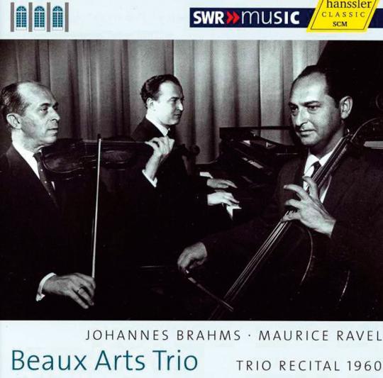 Beaux Art Trio. Trio Recital 1960. Brahms & Ravel. CD.