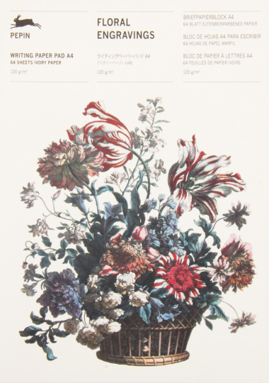 Briefpapierblock »Florale Gravuren«. DIN A4.