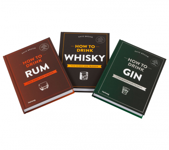 Bücher-Set How to Drink. Bd. 1. How to Drink Whisky. Bd. 2. How to Drink Rum. Bd. 3. How to Drink Gin.