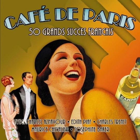 Cafe De Paris - 50 Grands Succes Francais. 2 CDs.