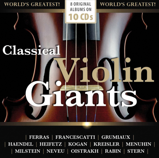 Classical Violin Giants. 8 Original-Alben. 10 CDs.
