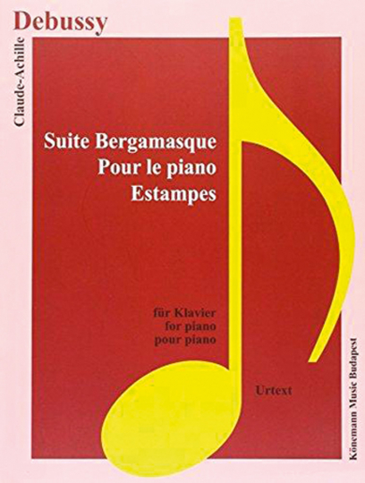 Claude Debussy. Suite Bergamasque, Pour le piano, Estampes. Noten für Klavier.