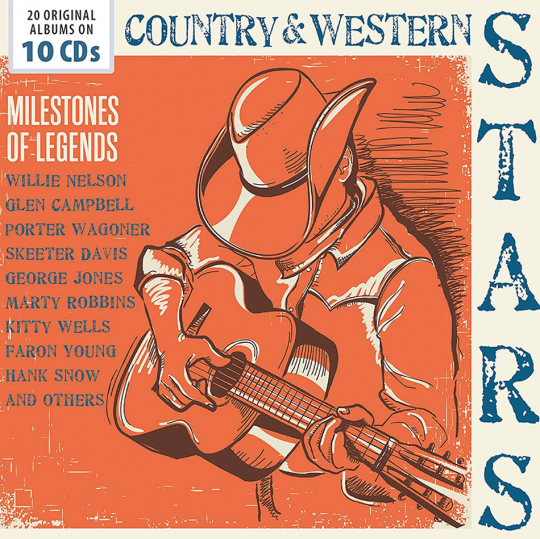 Country & Western Stars. Milestones Of Legends. 10 CDs.