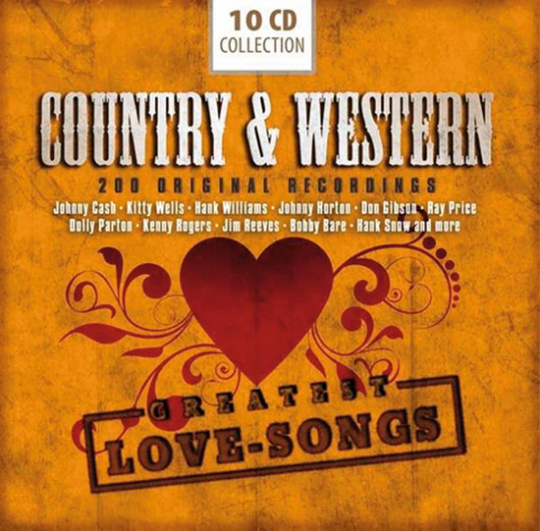Country & Western. 200 Greatest Love Songs. 10 CD-Set.