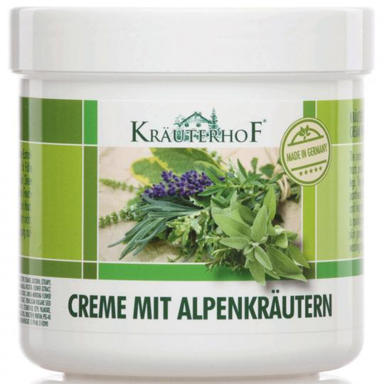 Creme mit Alpenkräutern.