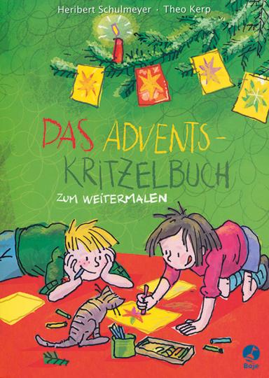 Das Adventskritzelbuch zum Weitermalen.