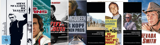 Das grosse Steve McQueen Paket. 8 DVDs.