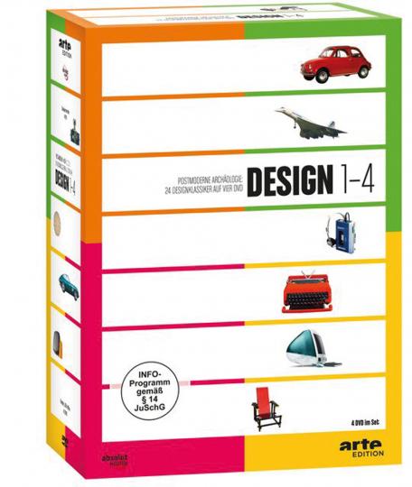 Design 1-4. Arte Edition. 4 DVDs Set.