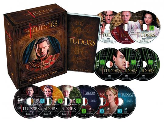 Die Tudors (Komplette Serie). 13 DVDs.