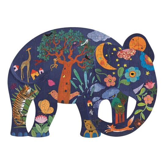 Djeco Puzzle »Elefant«, 62 x 46 cm.