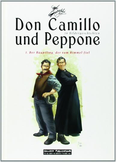 Don Camillo und Peppone in Bildergeschichten. Band 1. Der Häuptling, der vom Himmel fiel.