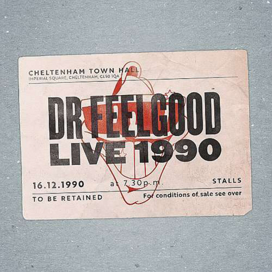 Dr. Feelgood. Live 1990 At Cheltenham Town Hall. CD + DVD.