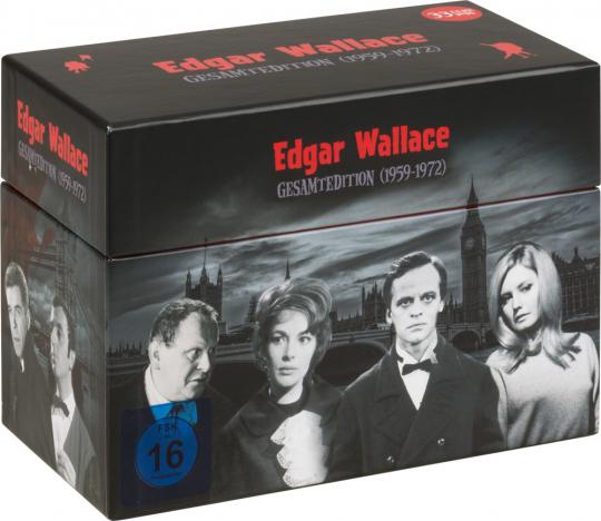 Edgar Wallace Gesamtedition 1959 - 1972. 33 DVDs.