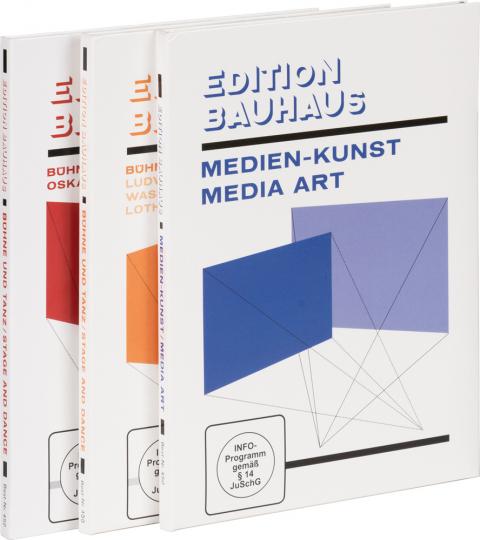 Edition Bauhaus. Teil 1-3. Medien-Kunst. Bühne und Tanz. Von Hans Richter über Wassily Kandinsky zu Oskar Schlemmer. 3 DVDs im Set.