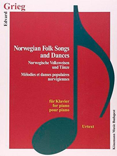 Edvard Grieg. Norwegische Volksweisen und Tänze. Noten für Klavier.