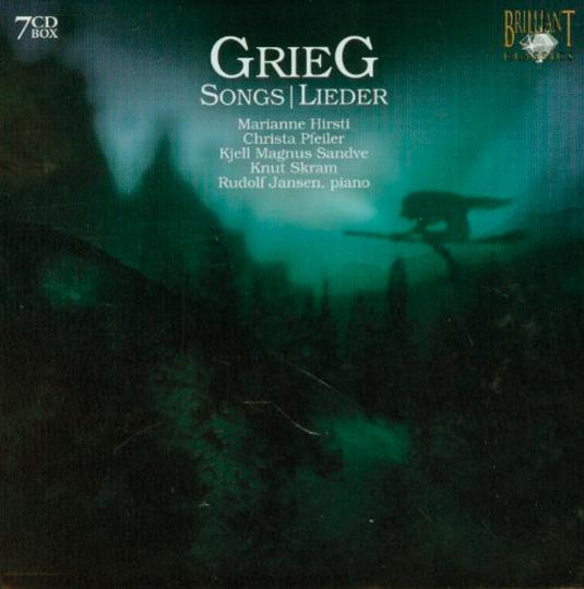 Edvard Grieg. Sämtliche Lieder. 7 CDs.