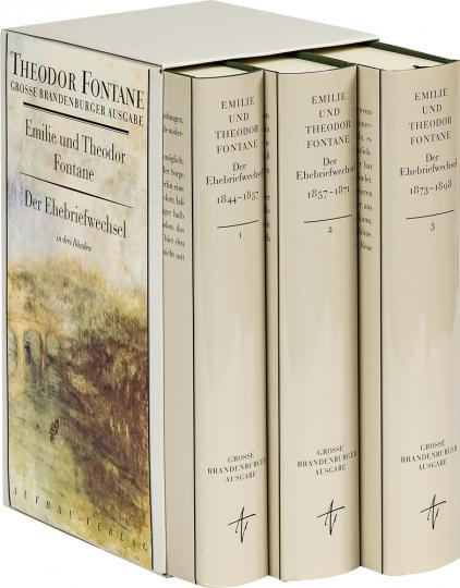 Emilie und Theodor Fontane - Der Ehebriefwechsel 1844-1898 (3 Bände)