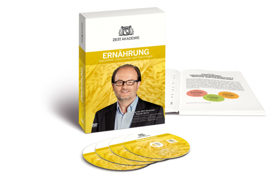 Ernährung. Gesundheit, Lebensmittel und Psychologie. Ein Seminar der ZEIT Akademie. 4 DVDs + Begleitbuch.