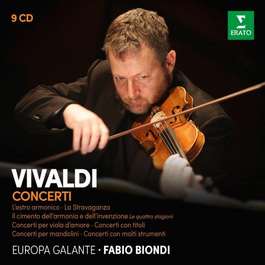 Fabio Biondi spielt Vivaldis Konzerte. 9 CDs.
