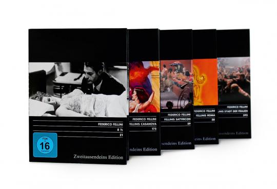 Federico Fellini Paket. 5 DVDs.