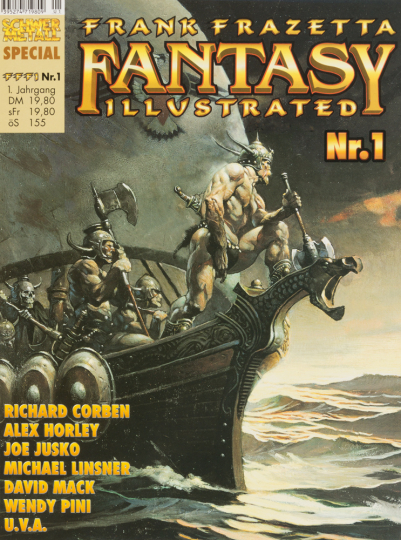 Frank Frazetta Fantasy Illustrated. Nr. 1. Schwermetall Special. Graphic Novel