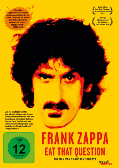 Frank Zappa. Eat That Question. DVD.