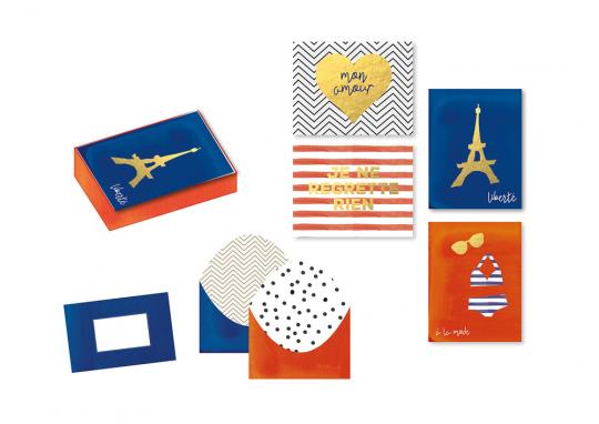 Frankreich. Grußkartenbox.