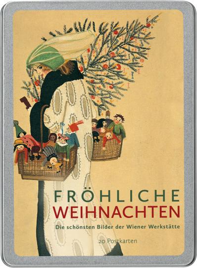 Fröhliche Weihnachten. Die schönsten Bilder der Wiener Werkstätte. Postkarten-Set.