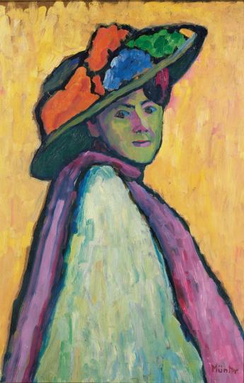 Gabriele Münter. Bildnis Marianne von Werefkin, 1909.