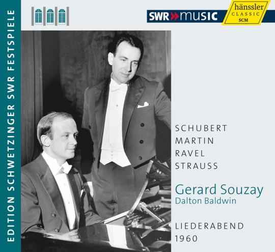Gerard Souzay. Liederabend 1960. Schubert, Martin, Ravel, Strauss. CD.