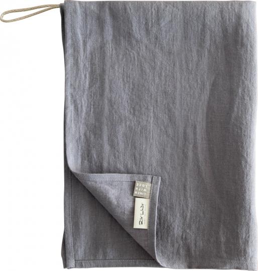 Geschirrhandtuch aus Leinen, grau.