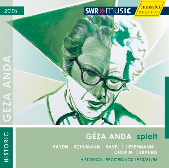 Géza Anda spielt Haydn, Schumann, Ravel, Liebermann, Chopin und Brahms. 2 CDs.