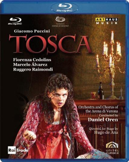 Giacomo Puccini. Tosca. Blu-ray Disc.