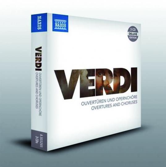 Giuseppe Verdi. Ouvertüren und Opernchöre. 3 CDs.