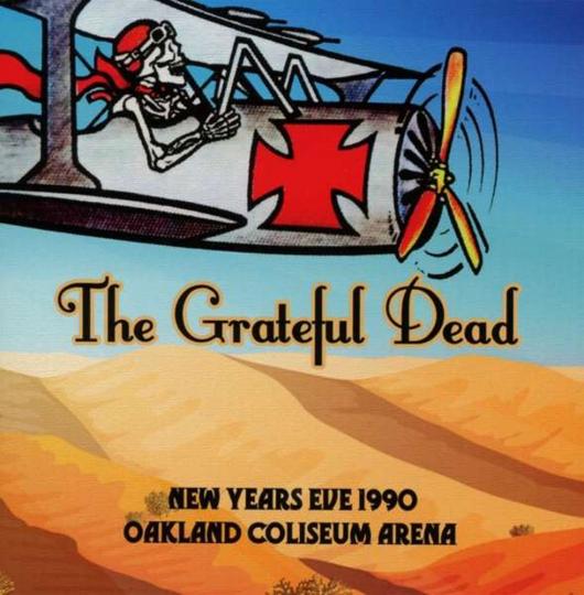 Grateful Dead. New Years Eve 1990 Oakland Coliseum Arena. 3 CDs.