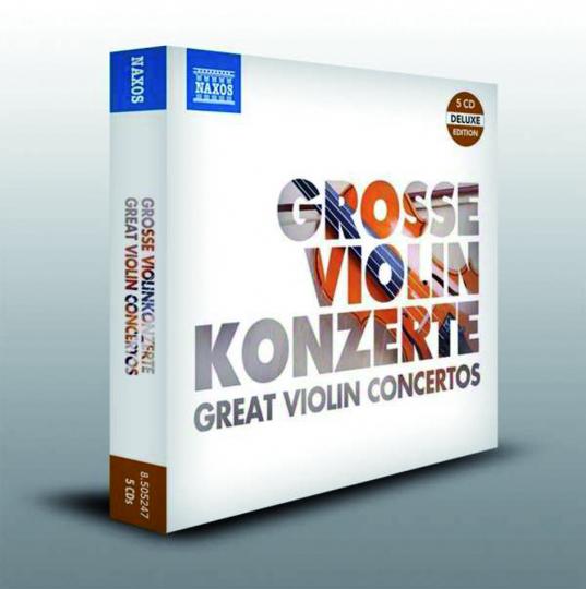 Große Violinkonzerte. 5 CDs.