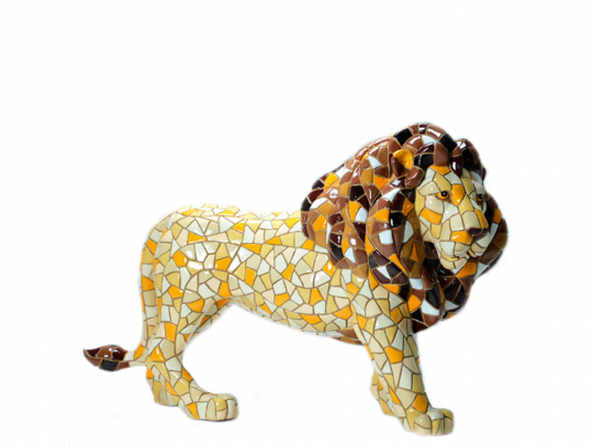 Großer Löwe aus Mosaik.