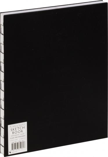 Großes Skizzenbuch, blanko, schwarz.