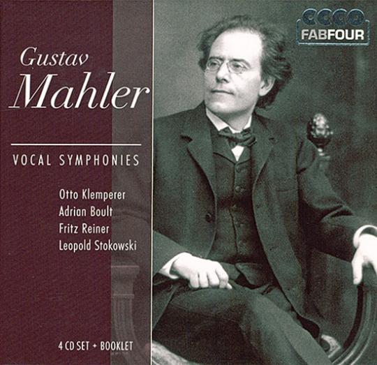 Gustav Mahler. Vocal Symphonies.