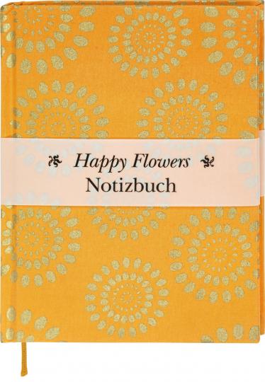 Happy Flowers Notizbuch. Orange.